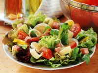 Salad with Peppers, Ham and Egg recipe