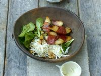 Salad with Prosciutto-Wrapped Pears and Walnuts recipe