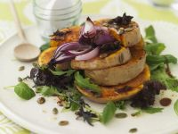 Salad with Pumpkin, Onions and Balsamic Dressing recipe