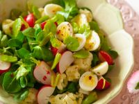 Salad with Quail Eggs recipe