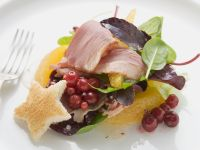 Salad with Smoked Duck Breast and Oranges recipe