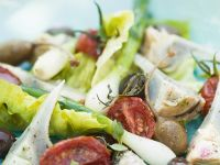 Salad with Tomatoes, Scallions, and Artichokes recipe