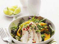 Salad with Tropical Fruits and Chicken recipe
