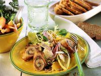 Salad with Turkey Rolls