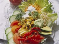 Salad with Yogurt Dressing recipe