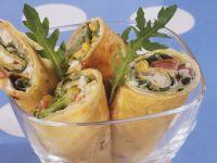 Salad Wraps with Homemade Tortillas recipe