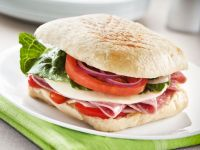Salami and Cheese Ciabatta Rolls recipe