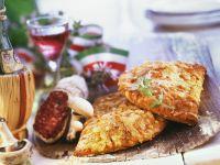 Salami and Mushroom Calzones recipe