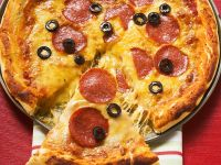Salami and Olive Pizza recipe