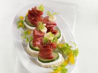 Salami Canapes recipe