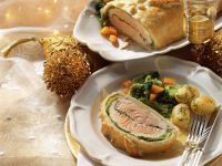 Fish En Croute with Vegetables recipe
