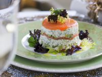 Salmon and Cream Cheese Timbales recipe