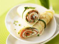 Salmon and Cream Cheese Wraps recipe