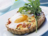 Salmon and Duck Egg Tarts recipe