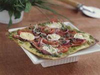 Salmon and Goat Cheese Flatbread recipe
