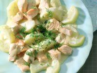 Salmon and Kohlrabi Ragout recipe