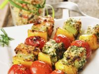 Salmon and Mixed Vegetable Brochettes recipe