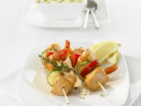 Salmon and Prawn Skewers recipe