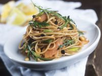 Salmon and Rocket with Wholewheat Spaghetti recipe