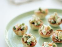 Salmon and Soft Cheese Canapes recipe