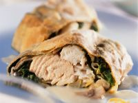 Salmon and Spinach Puff with Lemon Sauce recipe