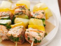 Salmon and Vegetable Kabobs recipe