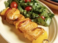 Salmon and Yellow Pepper Skewers recipe