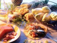 Salmon Endive Crepe Packets recipe