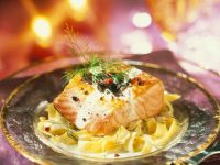 Salmon Fillet with Pasta and Lemon recipe