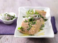 Salmon Fillets with Saffron Butter recipe