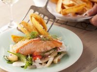 Salmon Fillets with Vegetables recipe