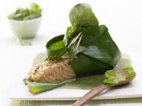 Salmon in Banana Leaves recipe