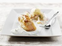 Salmon in Puff Pastry with Apple and Radish Salad recipe