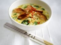 Salmon-Noodle Curry with Coconut Milk recipe
