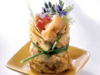 Salmon Omelette Rolls recipe