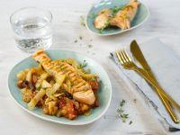 Salmon on Tomato-fennel Vegetables recipe