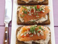 Salmon on Wholegrain Bread recipe