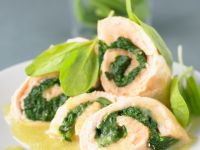 Salmon Roll with Spinach recipe