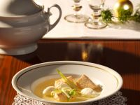 Salmon Soup with Pike Dumplings