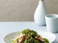 Salmon, Spinach, Pea and Orzo Salad recipe