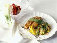 Salmon Steak with Couscous recipe