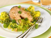 Salmon Steak with Vegetables recipe