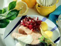 Salmon Steaks with Lemon Sauce recipe