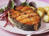 Salmon Steaks with Potatoes recipe