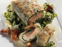 Salmon Strudel with Savoy Cabbage recipe