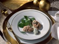 Salmon Tartare with Perch Mousse recipe