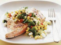 Salmon with Avocado and Corn Salsa recipe