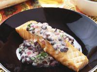 Salmon with Black Beans recipe