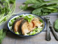 Salmon with Buttered Scallions recipe