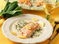Salmon with Creamy Sorrel Sauce recipe